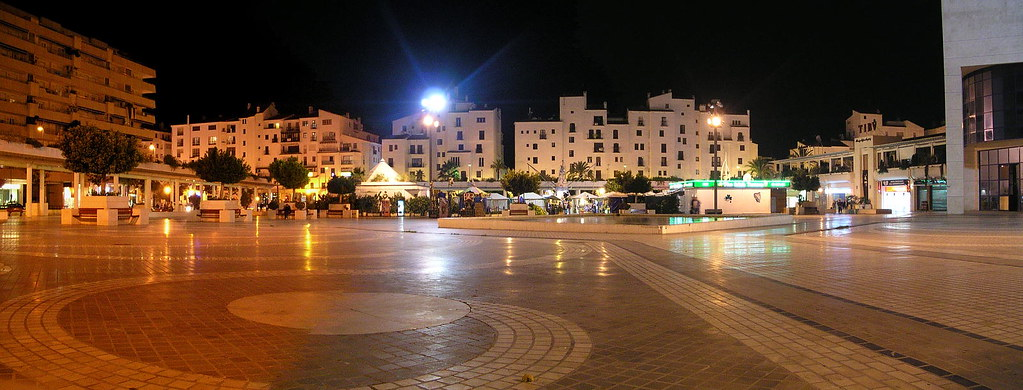 Marbella panorama at night