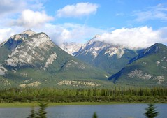 Calgary to Revelstoke 250 (no body atoll) Tags: pictures trip travel blue trees summer vacation sky mountain holiday canada green water clouds river landscape photo stream jasper photos pics rocky visit columbia fresh cover banff british