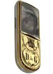 Nokia 8800 Sirocco (Gold, 18 Carats)-D&G
