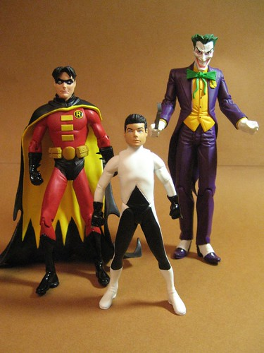 Robin, Damian and Joker