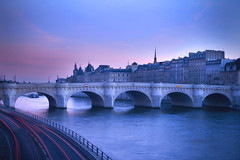 Twilight in Paris (flamed) Tags: longexposure sunset paris seine river evening twilight europe streams