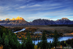 Change of Shift (James Neeley) Tags: autumn mountains sunrise landscape bravo snakeriver grandtetons tetons hdr magicdonkey flickr2 wyomming 5xp jamesneeley