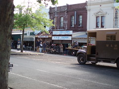 "Part of the set of ""The Pacific"" shot in Rathdowne Street"