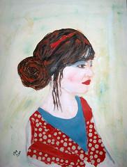 Self Portrait (LimonVerde) Tags: portrait self painting mixed media acryl