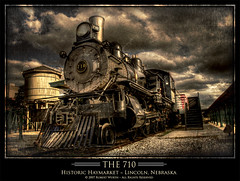 """The 710"" HDR (Robert Wurth (Zuiun) - Studio Orange Photography) Tags: old train photoshop nebraska digitalart lincoln haymarket distressed hdr 3xp photomatix explored the710"