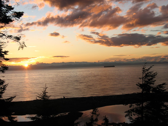 Sunset over Vancouver Island