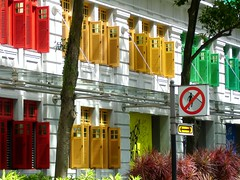 Colored windows (bleublogger) Tags: color window singapore object melikey insingapore