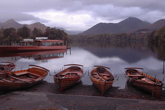 Lake District - Derwent Water Moored Boats (Dave_Barlow) Tags: reflection water boats lakedistrict explore derwentwater keswick moored impressedbeauty