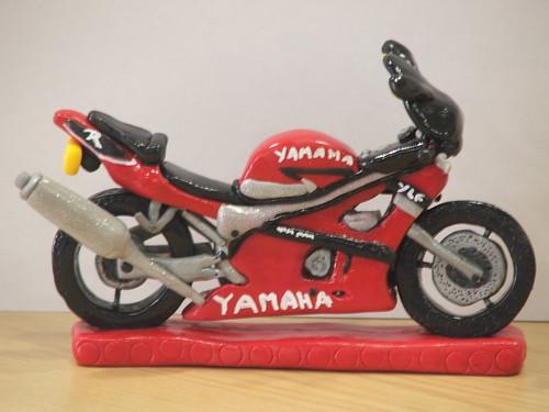 YAMAHA MOTORBIKE BIRTHDAY CAKE TOPPER