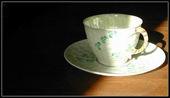 Belleek Shamrock tea cup