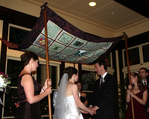 Chuppah in use