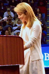 Caroline Kennedy speaks at the Barack Obama rally at UCLA