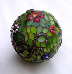 Mosaic sphere - WIP 5 (stiglice - Judit) Tags: globe mosaic wip sphere mosaique mozaiek mozaik