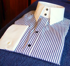 Hawes and Curtis ladies shirt blue (rabinal) Tags: blue ladies white shirt stripe collar cuffs curtis hawes