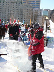 Chainsaw Madness! (m.gifford) Tags: winter sculpture snow ice canal ottawa chainsaw winterlude feb2008