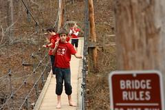 hobos on bridge