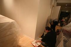 Painting begins. (beaniemom) Tags: loft bedroom walls guest pressurized