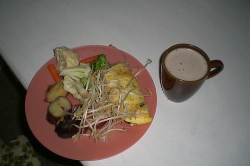 Shroom omelette breakfast
