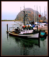 Morning Light in Morro Bay (moonjazz) Tags: california park morning sea mist rock fog port boats bay harbor town fishing landmark calm explore morro morrorock sactuary platinumphoto anawesomeshot diamondclassphotographer flckrdiamond excellentphotographer