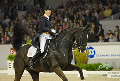 Anky Van Grunsven Riding Salinero (Jonathan Law 2008) Tags: world horse holland cup canon indoor fei riding van 2008 equestrian brabant equine 70200mm dressage salinero anky 40d grunsven