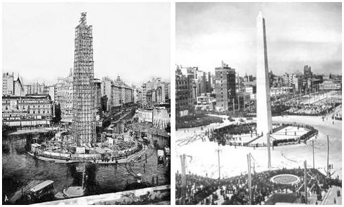 construccion del obelisco