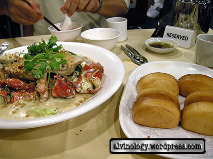 butter crab and fried mantou