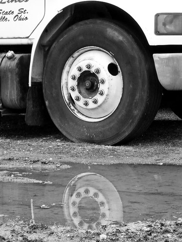 Truck Tire Reflection