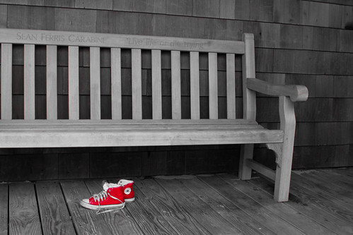 Sean Carabine Memorial Bench - Selective Color
