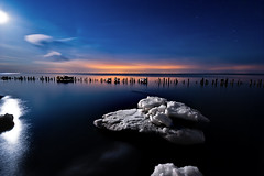 IMGP-4399 (Bob West) Tags: longexposure nightphotography moon ice night lakeerie greatlakes fullmoon nightshots lightroom sigma1020mm erieau southwestontario bobwest k10d