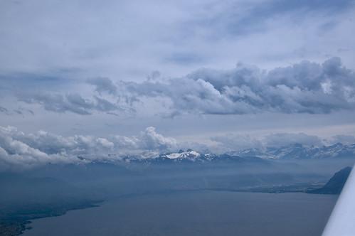 Flying Away From Lake Geneva