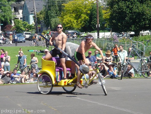 Bike Jousting, Portland, Oregon, Colonel Summers Park