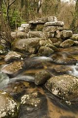 Dart Stacks (jebob) Tags: devon dartmoor rocks granite jebob water flow ebb winter moss tress england outdoors