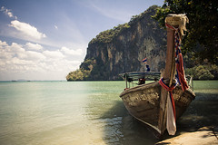 longtail (tomms) Tags: ocean travel sea beach water thailand boat southeastasia delete6 tourist save4 save10 longtail krabi raileybeach savedbydeletemeuncensored imbackfrommytrip