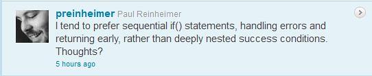 Paul Reinheimer handling errors early tweet