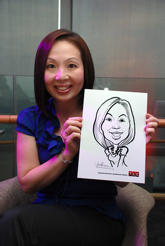Caricature live sketching for TLC - 5