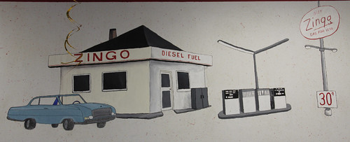 Knox, Indiana BP/ Amoco Zingo Express Gas Station Mural: Zingo Diesel Fuel Detail