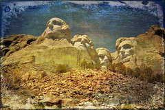 monument (AppleCrypt) Tags: park camera usa snow west texture southdakota photoshop landscape countryside mac scans scenery roadtrip rushmore idaho mount american elements views scanned yellowstone grizzly presidents disposable ppc iphotooriginal applecrypt