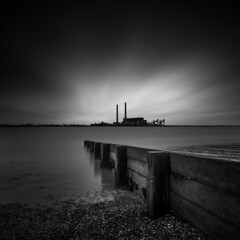 Emissions (vulture labs) Tags: longexposure blackandwhite bw building london art abandoned monochrome thames skyline architecture clouds dark square photography mono lowlight key industrial moody awesome low fineart wideangle monotone monochromatic estuary crop nd format 16 riverthames groyne powerstation breakwater stops slowshutterspeed decommissioned londonskyline bwfilter ndfilter 1635mm daytimelongexposure neutraldensityfilter bwlondon 10stop nd110 d700 nd106 bwlongexposure nikond700 vulturelabs 16stops longexposurejunkies