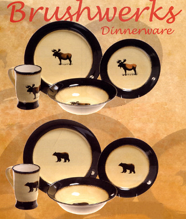 Brushwerks Bear & Moose Dinneware