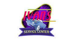 Ivan's Service Center (ben.bibikov) Tags: pink red classic cars car logo design purple ivan wheels banner center idaho boise business company identity repair service