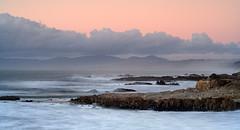 San Mateo Coast (copeg) Tags: ocean california pink red mountains beach clouds coast twilight san rocks waves view state scenic cliffs mateo pescadero mywinners aplusphoto
