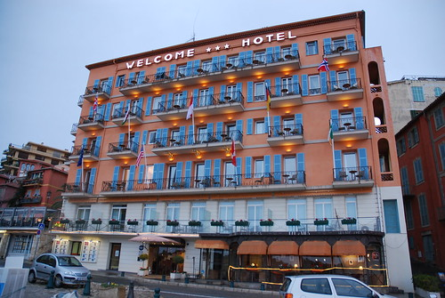 Hotel Welcome, quayside, Villefranche
