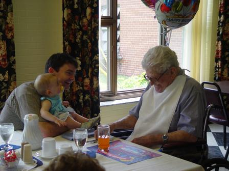 Great Grampa Y at his 100th birthday celebration