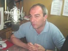 Intendente Lic. -Sergio Cóser- en los estudios de FM 2000