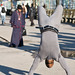 Positive Brother Street Performer Hand Stand