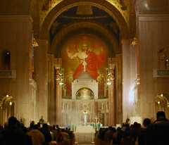 High Mass (Tiz_herself) Tags: architecture washingtondc nikon worship shrine churches cathedrals mass incense priests catholics basilicas nationalshrineoftheimmaculateconception churchinteriors d40x