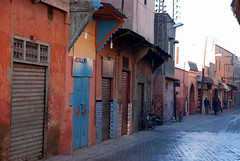 Color street (Liv ) Tags: africa street travel blue light sunset red 2 people orange 3 man window sahara tag3 night square 1 photo tag2 colours tag1 market minaret tag ivan hijab el mosque unesco morocco 09 maroc marocco marrakech souk medina afrika marrakesh 2008 marruecos ghetto viaggio occidentale 08 koutoubia afrique fna lazzari mosquita jemaa marocchino  djemaa laiv   nikond80 aplusphoto laivphoto  jamaaelfnaa marrki   313807n80001w316352788000278coordinate313807n80001w316352788000278