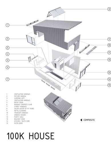 Exploded View of 100K House