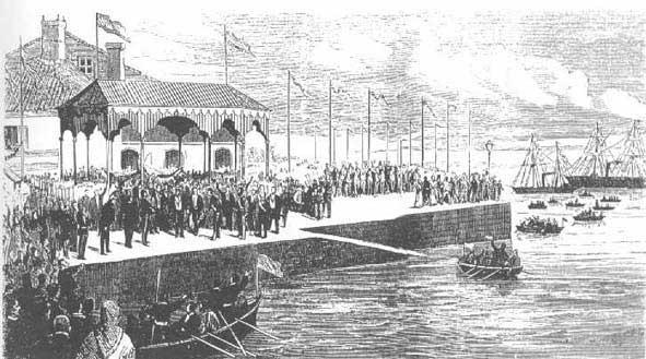 Inauguración del puerto de Carril.