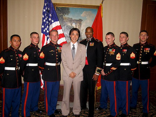 The 232 Military Ball. Yerevan, Armenia Andy with the US Marine Detachment,
